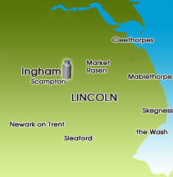Location map of Ingham